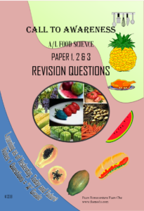 Food Science Paper 1, 2 & 3 Revision Questions for A/L Food Science Students